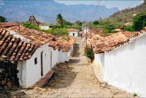 Barichara colombia cobblestone street