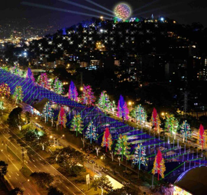 Colombia Christmas Lights in Medellin